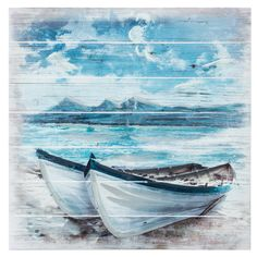 Boats on Beach Wood Wall Decor