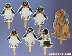 Tacky the Penguin felt story printables and rhyme