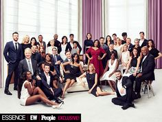 Get Ready for #TGIT! Exclusive Behind-the-Scenes Dish from PEOPLE, Entertainment Weekly and Essence's Exclusive Photo Shoot | MUST-SEE TV  | ABC's Thank God It's Thursday stars assemble to pose with their peerless leader. All three hit shows return Sept. 24, starting at 8 p.m. – better get your fingers warmed up for live tweeting.