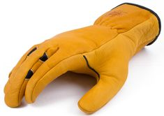 Original patented Double Wedge design work glove in yellow and black with inside seams.  All I can say is WOW! I just received my first pair of work gloves from Bear Knuckles and they've got to be the best fitting, most comfortable gloves ever! I need to buy more as everyone in my family has taken claim to them. They are everything advertised and more. Great job Bear Knuckles! https://www.buybearknuckles.com/product/double-wedge-work-glove/