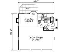 3 car garage with apartment plan