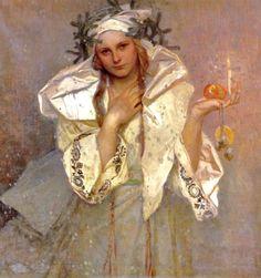 Alphonse Mucha -Noël en Amérique, 1919