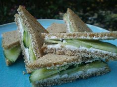 Hannah's Cucumber Tea Sandwiches. Photo by breezermom