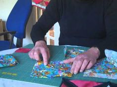 how to quilt - Cathedral Windows quilts machine sewn video