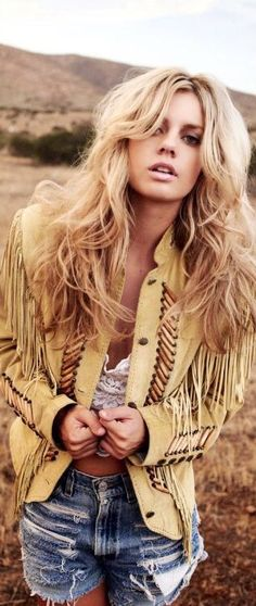 BOHO Styling-Fringed Coat