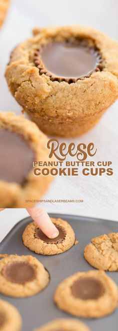 Cookies made from Reese Peanut Butter Cups and you…