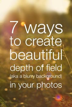 Shallow depth of field is a popular effect, particularly for portrait photos…