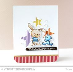 Snuggle Bunnies, Snuggle Bunnies Die-namics, Inside & Out Stitched Stars Die-namics - Torico #mftstamps