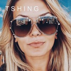4ee1a007a2d TSHING Ladies Luxury Oversized Aviation Sunglasses Women Fashion Brand  Designer Flat Top Metal Mirror Pilot Sun Glasses Female
