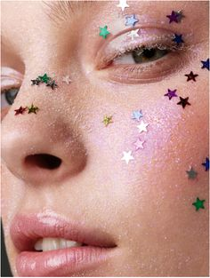 starry on the entire face