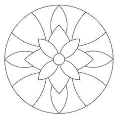 Mandala #mandala #mandalas #coloriage | Stained Glass Templates | Pinterest  | Stains, Coloring and Mandalas