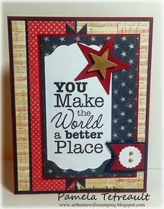 "airbornewife's stamping spot: MFTWSC182 ""YOU MAKE THE WORLD A BETTER PLACE"" card"
