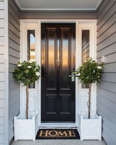 70 Best Modern Farmhouse Front Door Entrance Design Ideas 59 – Home Design Design Entrée, Door Design, House Design, Design Ideas, Front Door Entrance, House Entrance, Entry Doors, Front Door Entry, Front Door Handles