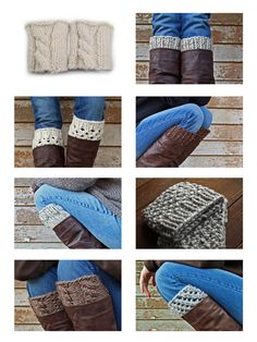 18 Boot Cuff Knitting Patterns eBook Instant by bromefields Crochet Yarn, Knitting Yarn, Knitting Patterns, Knitted Boot Cuffs, Knit Boots, Darning, Knitting Projects, Trending Outfits, Unique Jewelry