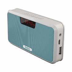 Rolton E300 Multifunctional Portable Wireless Bluetooth Stereo Speaker with Power Bank FM Radio Blue >>> To view further for this item, visit the image link.