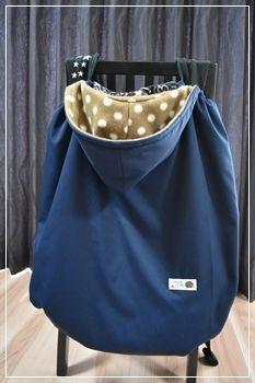 エルゴ(抱っこひも)防寒ケープの作り方(^^): 気ままにハンドメイド