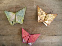 cute idea.  Origami butterflies on the screen.  Pearl idea no. 242