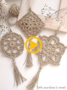 Tutti guardano le nuvole: Corda e CrochetCrochet noHerkes bulutlar bakar: Rope ve kroşe ,Everyone looks at the clouds: Rope and CrochetCrochet pendant - Diy And CraftCrochet pendants, come to amazing techniques to make beautiful works of crochet and Mandala Au Crochet, Crochet Diy, Crochet Rope, Crochet Granny, Crochet Motif, Crochet Crafts, Crochet Doilies, Crochet Flowers, Crochet Projects