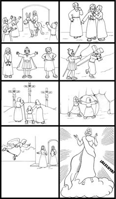 Pdf con tante immagini da colorare sulla pasqua di ges - Artigianato per cristiani ...