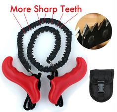 Amazon.com : SHARPEST! Survival Pocket Hand Chainsaw EAT WOOD 3 TIMES FASTER!!! With SUPER Sharp Blade! Chain Saw Gear + Built to last! Made of Highest Quality Steel + with pouch - Trimming trees NEVER BEEN EASIER + Special Guarantee To You! : Sports & Outdoors