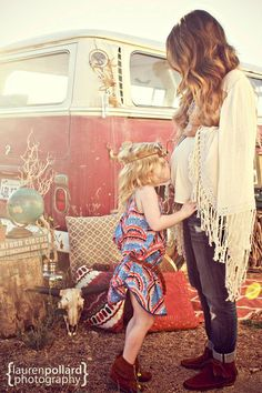 Bohemian Style Family Session By Lauren Pollard Photography/Fawn Over Baby