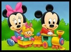 Baby Mickey & Minnie Playing