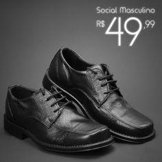 Sapato Social Masculino de R$60,00 por R$49,99! Estilo, conforto e modernidade!