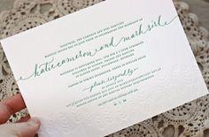Katie + Mark's Sophisticated Autumn Wheat Wedding Invitations