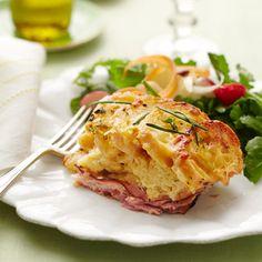 Ham and Cheddar Strata #recipe