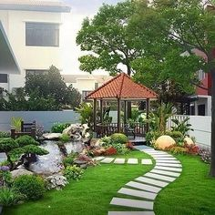 47 Examples Landscaping Ideas You can Put in House Page Cheap front yard landscaping ideas that will inspire 00023 Related 12 small gardens that you can adapt to perfection in your home. Create a nice green area for your family! Image may contain: plant, Backyard Seating, Backyard Garden Design, Small Garden Design, Garden Landscape Design, Yard Design, Backyard Patio, Patio Decks, Modern Backyard, House Garden Design