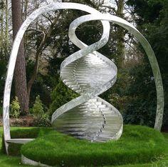 """""""DNA"""" abstract scultures Sculpture Art, Sculptures, Dna Design, Snow Art, Picts, Land Art, Public Art, Graffiti Art, Urban Art"""