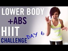 Lower Body + Abs HIIT Challenge | Day 6 - YouTube