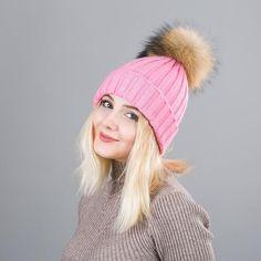 Really good fur Winter Hat For Women Solid Knitted Women's Hat Cotton Skullies Beanies Winter Cap Warm Pom Poms Hats For Girl #WarmHatsForWomen