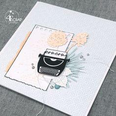 "Sandelsa : #Tampons et #matrices de coupe #dies #4enSCRAP ""Fonds de texte 2"" #carte #carterie #card #cardmaking Tampons Transparents, Scrapbooking, Mini Albums, Crafts, Ideas, Typewriter, Manualidades, Handmade Crafts, Scrapbooks"