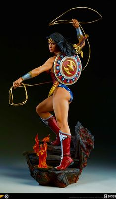 Drawing Dc Comics By Athena's Shield! The Wonder Woman Premium Format™ Figure Approaches Wonder Woman Art, Gal Gadot Wonder Woman, Wonder Woman Comic, Marvel Vs, Marvel Dc Comics, Marvel Heroes, 3d Art, Comic Movies, 3d Prints