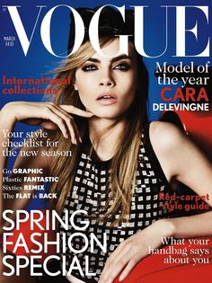 Cara Delevingne Covers British Vogue's March 2013 Issue