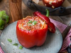 Gefüllte Paprika - Verstecke die Lasagne in einer Paprika