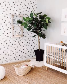 Get a modern bobo look with watercolor triangle mural wallpaper from Project Nursery! This matte finish wallpaper features a lovely geometric design. Boys Wallpaper, Wallpaper Panels, Wallpaper Ideas, Wallpaper Wallpapers, Triangle Wallpaper, Neutral Wallpaper, Cloud Wallpaper, Fabric Wallpaper, Pattern Wallpaper