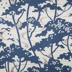 mandalay-indigo Fabric by Rapture & Wright