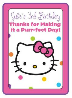 Hello Kitty Party Favors Customized Hello Kitty Party Printables and Gift Tags, Favors - Print as many as you need!