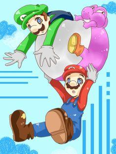 Mario and Luigi float