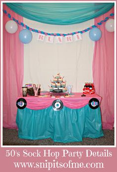 Snip Its Of Me: Sock Hop Party Theme Part Two