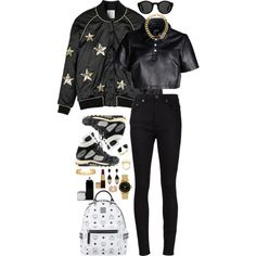 Rock This Style by imyeni on Polyvore featuring Hood by Air, Zoe Karssen, Yves Saint Laurent, L.G.B., MCM, Tiffany & Co., Givenchy, Marc by Marc Jacobs, Vita Fede and Elizabeth and James