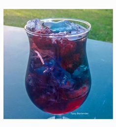 Galaxy Storm Cocktail - For more delicious recipes and drinks, visit us here: www.tipsybartender.com