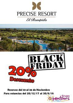 Precise Resort El Rompido (El Rompido, Cartaya, Huelva) ---- Especial Black Friday ------> 20% de descuento ---- Reservas realizadas del 23 al 26 de noviembre, para estancias del 20 de diciembre al 30 de septiembre de 2018. ---- Resto de condiciones de esta oferta en www.opentours.es ---- Información y Reservas sólo a través de agencias de viajes minoristas ---- #preciseresort #theclub #elrompido #cartaya #huelva #costadelaluz #andalucia #blackfriday #vacaciones #ofertas #reservas #hoteles