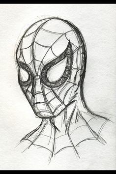 Rough Spider-Man sketch