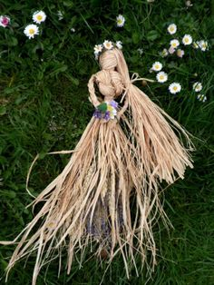 Beltane May Day Corn Dolly Goddess. Handmade by PositivelyPagan, £12.95