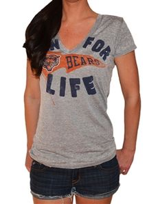 Chicago Bears burnout gray t-shirt