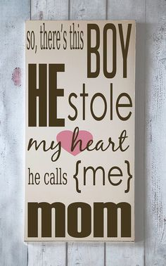 He Stole My Heart  Wooden Sign  Typography Word Art by vinylcrafts, $55.00