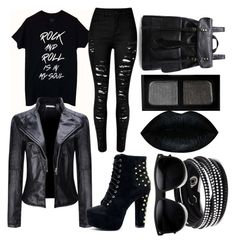 """""""rock'n'roll is in my soul"""" by izzyfifteen on Polyvore featuring WithChic, Swarovski, ZeroUV and NARS Cosmetics"""